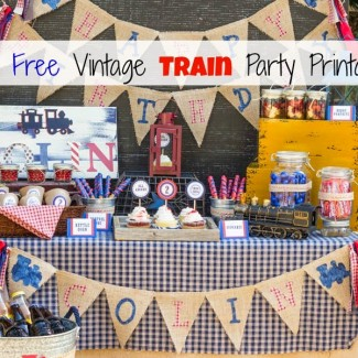 Free Vintage Train Party Printable
