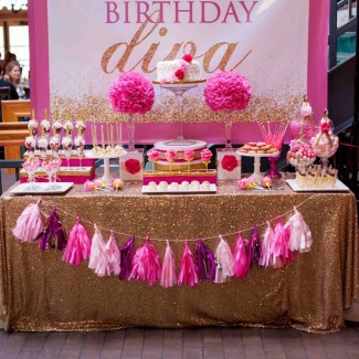 Diva Pink & Gold 40th Birthday Party