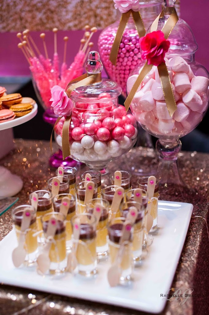 Diva pink gold 40th birthday party for 40 year old birthday decoration ideas