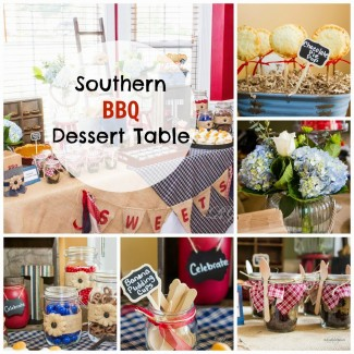 A Summer Farewell BBQ Dessert Table