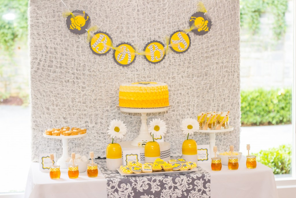 Bee Shower Dessert Table-2