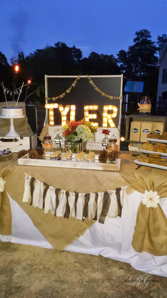 Sweet 16 Backyard Bonfire Diy Marquee Light