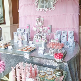 Pink + Silver Bridal Shower