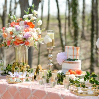 Romantic Outdoor Wedding Dessert Table Inspiration