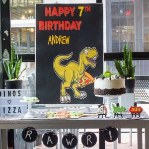 Dinos Love Pizza Birthday Party