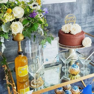 Blue + Gold 40th Birthday | The Celebration Cart